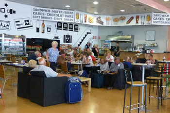 Cafes and restaurants at Murcia airport