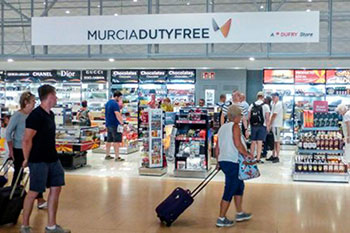 Shopping at Murcia airport